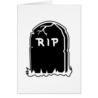 RIP Tombstone Note Cards