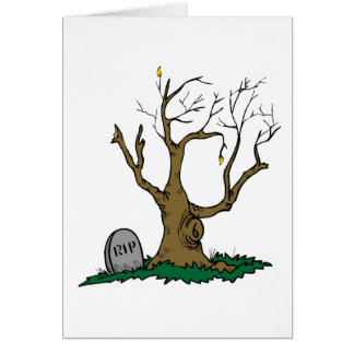 RIP Tree Greeting Card
