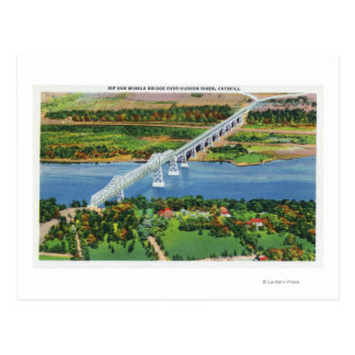 Rip Van Winkle Bridge over Hudson River Post Cards