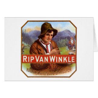 Rip Van Winkle Cigar Label Greeting Card