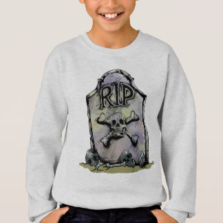 RIP Watercolor Gravestone or Tombstone Sweatshirt