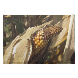 Ripe and ready to harvest ear of corn placemat