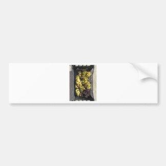 Ripe grapes in box bumper sticker