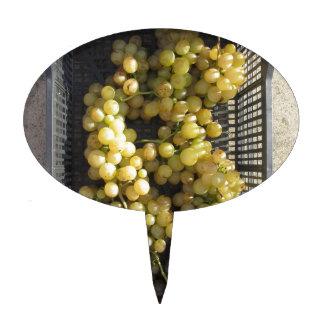 Ripe grapes in box cake topper