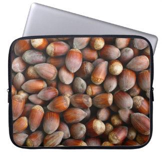 ripe hazelnuts texture food fruit pattern nuts laptop sleeve