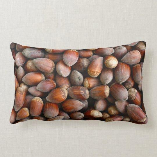 ripe hazelnuts texture food fruit pattern nuts lumbar cushion