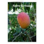Ripe Mango Fruit Personalised Birthday Template Card