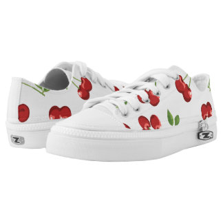 Ripe Red Cherries Printed Shoes