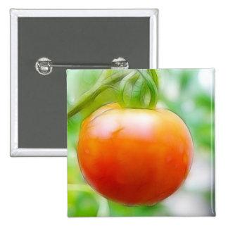 Ripe Red Heirloom Tomato Pinback Button