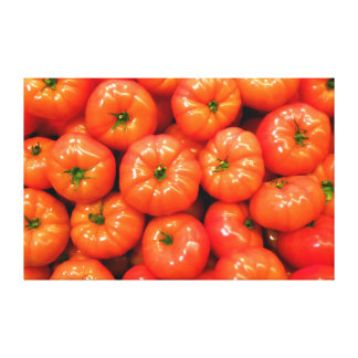 Ripe Red Shiny Tomatoes Stretched Canvas Print