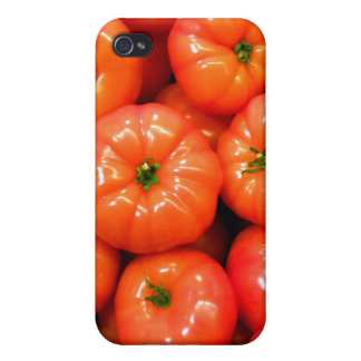 Ripe Red Shiny Tomatoes iPhone 4 Case