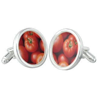 Ripe Tomatoes - Bright Red, Fresh Cuff Links