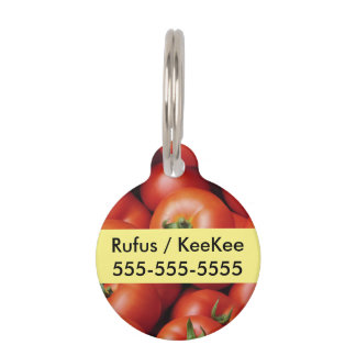 Ripe Tomatoes - Bright Red, Fresh Pet Tag