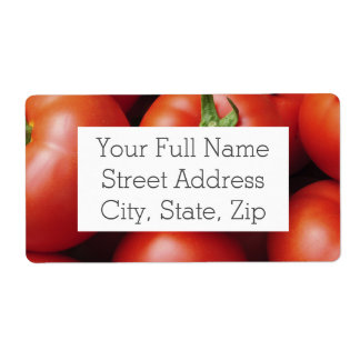 Ripe Tomatoes - Bright Red, Fresh Shipping Label