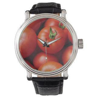 Ripe Tomatoes - Bright Red, Fresh Wrist Watches