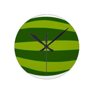 Ripe Watermelon Round Clock