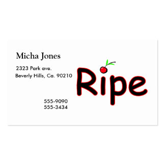 Ripe With Cherry On Top Double-Sided Standard Business Cards (Pack Of 100)