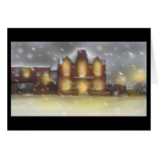 Ripley Derbyshire At Christmas Greeting Card