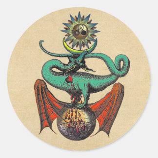 Ripley Scroll Classic Round Sticker