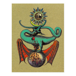 Ripley Scroll Gold Postcard