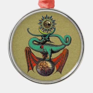 Ripley Scroll Metal Ornament