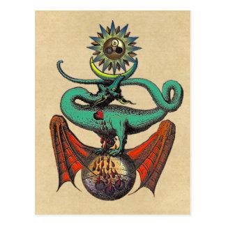 Ripley Scroll Sepia Postcard