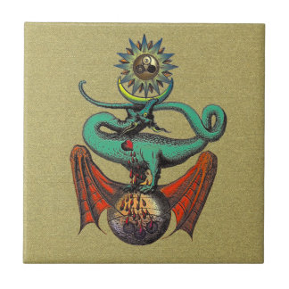 Ripley Scroll Small Square Tile