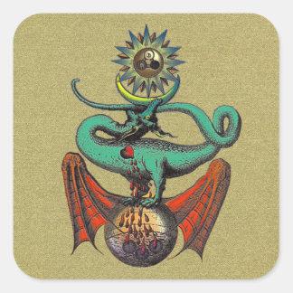 Ripley Scroll Square Sticker
