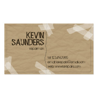 Ripped And Repaired - Brown Pack Of Standard Business Cards