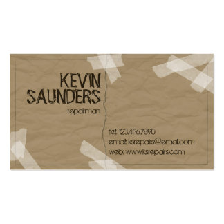 Ripped And Repaired - Dark Brown Pack Of Standard Business Cards