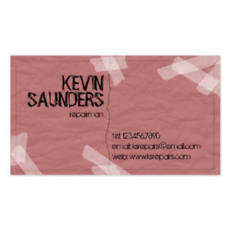 Ripped And Repaired - Red Pack Of Standard Business Cards