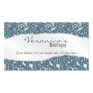 Ripped Floral Pattern - Light Blue Pack Of Standard Business Cards