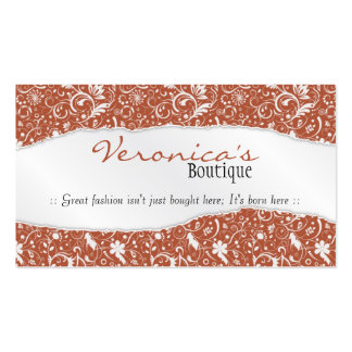Ripped Floral Pattern - Pink Pack Of Standard Business Cards