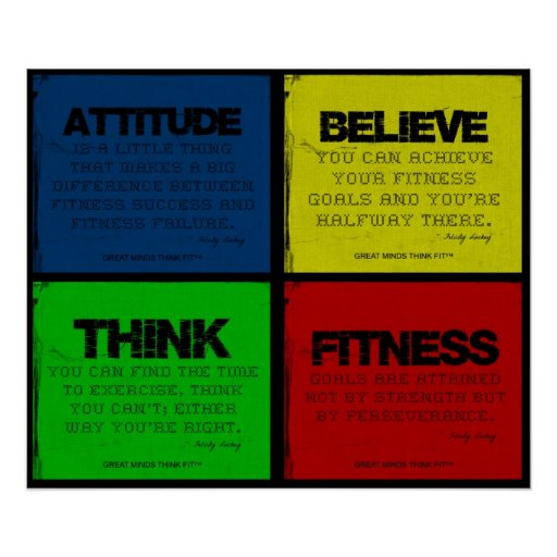 Ripped for Fitness Quotes Collage Posters