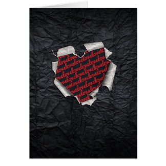 Ripped Heart Greeting Card
