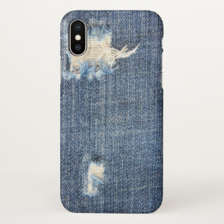 Ripped Jeans Look iPhone X Case
