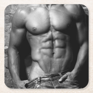 Ripped Male Fitness Model Drink Coaster