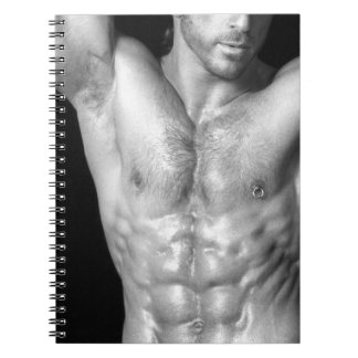 Ripped Male Hunk Notecook Notebook