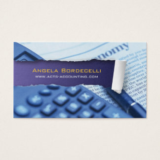 Ripped Paper Accounting Violet Business Card