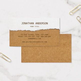 Ripped Paper And Cardboard business card