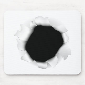 Ripped Paper Hole Mouse Mat
