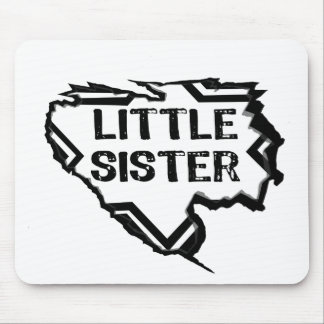 Ripped Star- Super Little Sister  -Black Mouse Pad