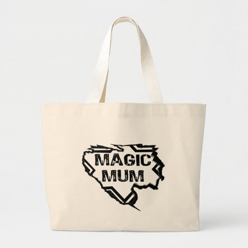 Ripped  Star- Super Magic Mum - Black Bag