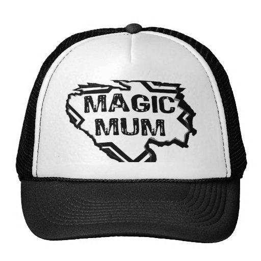 Ripped  Star- Super Magic Mum - Black Trucker Hats