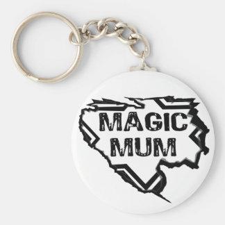 Ripped Star- Super Magic Mum - Black Keychain