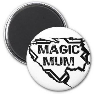 Ripped Star- Super Magic Mum - Black Magnets