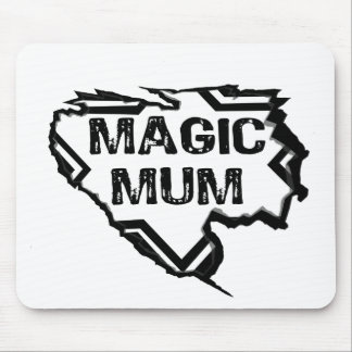 Ripped Star- Super Magic Mum - Black Mouse Pads