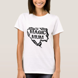 Ripped  Star- Super Magic Mum - Black T-Shirt