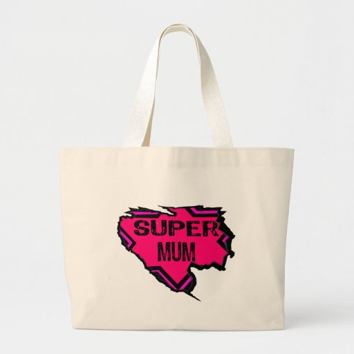 Ripped Star Super Mum- Back Text/  Pinks Bags