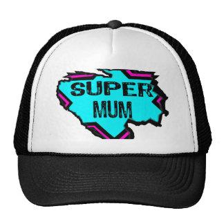 Ripped Star- Super mum- Black/ light blue/pink Cap